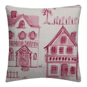 Clarke and Clarke Folia Maison Raspberry Cushion Covers