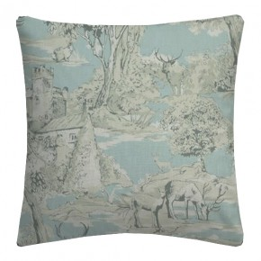 Clarke and Clarke Garden Party Manor Toile Mineral Cushion Covers