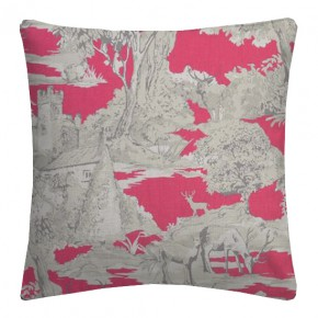 Clarke and Clarke Garden Party Manor Toile Raspberry Cushion Covers