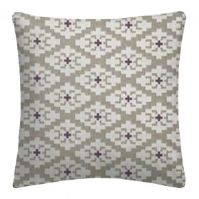 Clarke and Clarke Chateau Michel Linen/Violet Cushion Covers