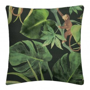 Clarke and Clarke  Colony Monkey Business Charcoal Cushion Covers