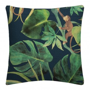 Clarke and Clarke  Colony Monkey Business Indigo Cushion Covers