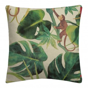 Clarke and Clarke  Colony Monkey Business Natural Cushion Covers