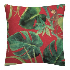 Clarke and Clarke  Colony Monkey Business Rouge Cushion Covers