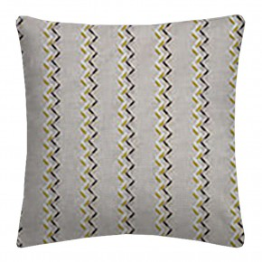 Clarke and Clarke Oslo Norah Chartreuse Charcoal Cushion Covers