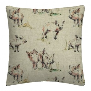 Clarke and Clarke Countryside Oink Linen Cushion Covers