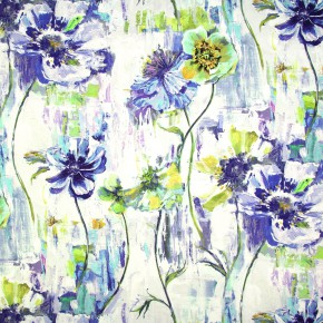 Printworks Poppy Indigo Made to Measure Curtains