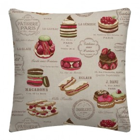 Clarke and Clarke Sketchbook Patisserie Linen Cushion Covers