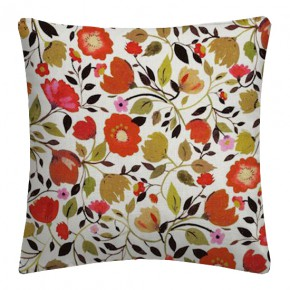 Clarke and Clarke Artbook Red Tulips Linen Autumn Cushion Covers