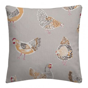 Clarke and Clarke Sketchbook Rooster Taupe Cushion Covers
