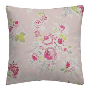 Clarke and Clarke Garden Party Rose Garden Pink Cushion Covers
