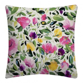Clarke and Clarke Artbook Rosina Linen  Fuchsia Cushion Covers