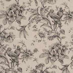 Clarke and Clarke Fougeres Provence Noir Curtain Fabric