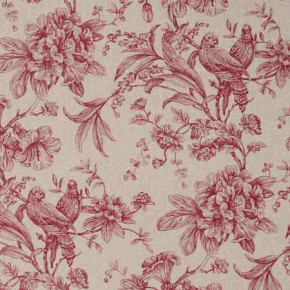 Clarke and Clarke Fougeres Provence Raspberry Curtain Fabric