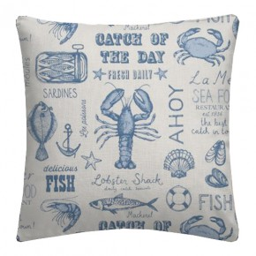 Clarke and Clarke Sketchbook Seafood Blue Cushion Covers