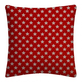 Clarke and Clarke Garden Party Shooting Stars Red Cushion Covers