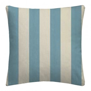 Clarke and Clarke Chateau St James Stripe Aqua Cushion Covers