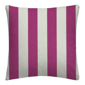 Clarke and Clarke Chateau St James Stripe Fuchsia Cushion Covers