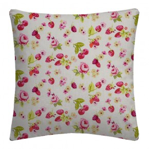 Clarke and Clarke Garden Party SummerFruits Raspberry Cushion Covers