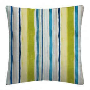 Clarke and Clarke Artbook Sunrise Stripe Linen Aqua Cushion Covers