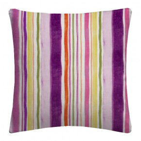 Clarke and Clarke Artbook Sunrise Stripe Linen Passion Cushion Covers