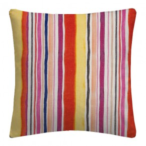 Clarke and Clarke Artbook Sunrise Stripe Linen Spice Cushion Covers