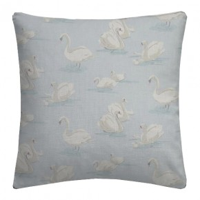 Clarke and Clarke Garden Party Swans Sky Cushion Covers