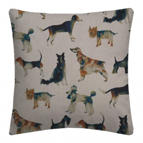 Country Garden Walkies Linen Cushion Covers