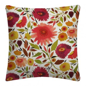 Clarke and Clarke Artbook Zinnias Linen Autumn Cushion Covers