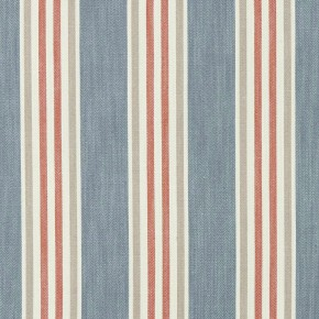 Clarke and Clarke Bloomsbury Quentin Denim/spice Curtain Fabric