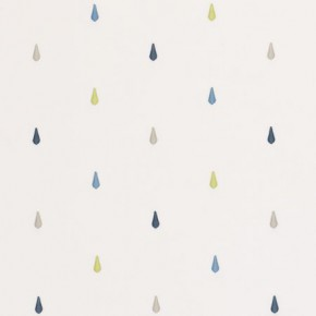 Clarke and Clarke Storybook Raindrops Blue Curtain Fabric
