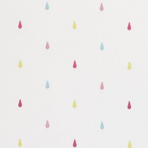 Clarke and Clarke Storybook Raindrops Pink Made to Measure Curtains