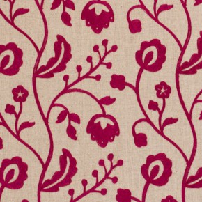 Clarke and Clarke Kashmir Raja Raspberry Curtain Fabric