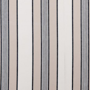 Clarke and Clarke Ticking Stripes Regatta Charcoal Made to Measure Curtains