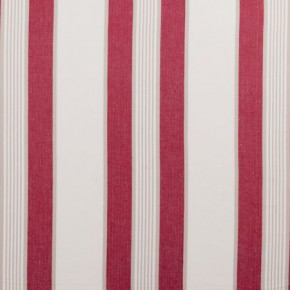 Clarke and Clarke Ticking Stripes Regatta Red Curtain Fabric