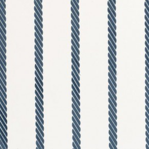 Clarke and Clarke Storybook Rope Stripe Blue Curtain Fabric