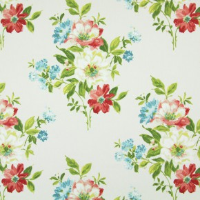 Italian Gardens Rosabella Pomegranate Curtain Fabric