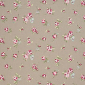 Clarke and Clarke Vintage Classics Rosebud Taupe Made to Measure Curtains