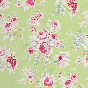 Clarke and Clarke Garden Party Rose Garden Apple Curtain Fabric