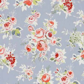 Clarke and Clarke Garden Party Rose Garden Chambray Curtain Fabric