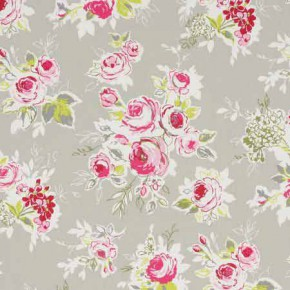 Clarke and Clarke Garden Party Rose Garden Pebble Curtain Fabric