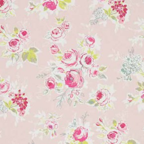 Clarke and Clarke Garden Party Rose Garden Pink Curtain Fabric
