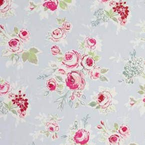 Clarke and Clarke Garden Party Rose Garden Sky Curtain Fabric