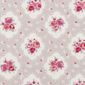 Clarke and Clarke Rosetta Rosetta Raspberry Curtain Fabric