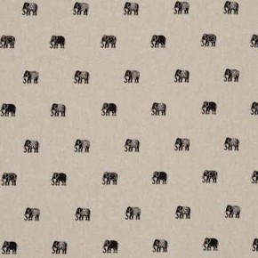 Clarke and Clarke Indienne Safi Charcoal Curtain Fabric