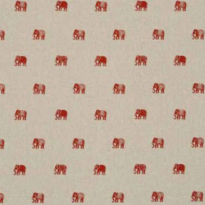 Clarke and Clarke Indienne Safi Cinnabar Curtain Fabric