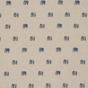 Clarke and Clarke Indienne Safi Denim Curtain Fabric
