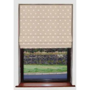 Clarke and Clarke Indienne Safi Ivory Roman Blind