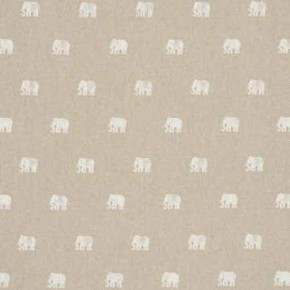 Clarke and Clarke Indienne Safi Ivory Curtain Fabric