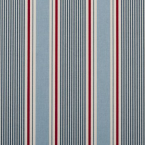 Clarke and Clarke Maritime Prints Sail Stripe Marine Curtain Fabric